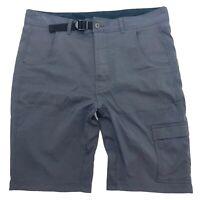 Men's Great Northwest Grey Belted Cargo Hiking Outdoor Shorts Size 36