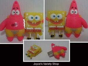 Sponge Bob & Patrick Star 16 GB Flash Drive Novelty Cartoon NEW