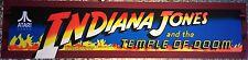 "Indiana Jones and the Temple of Doom Arcade Marquee 23.5"" x 5.5"""