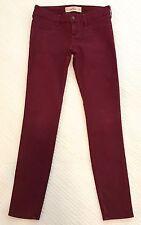 Super Cute Hollister Maroon Skinny Jeans Size 3