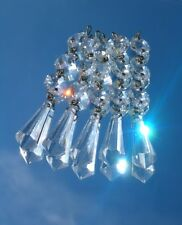 RARE GENUINE Vintage '60s Cut Lead Crystal Chandelier Glass Clear Bomb Drops