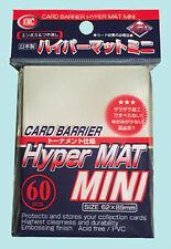 60 KMC MINI HYPER MAT CLEAR Small Card Barrier NEW Matte Deck Protector Sleeves