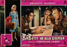 BABETTE S'EN VA T'EN GUERRE Italian fotobusta photobusta movie poster 2 BARDOT