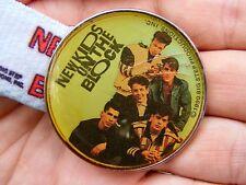 Vtg NEW KIDS ON THE BLOCK Belt Buckle 1990 Music BAND LEE NKOTB Album RARE VG++