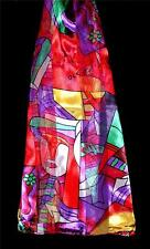 SCARF Long Red Green Gold Purple Gray Modern Art PICASSO PRINT