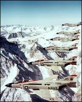 USN F-4 Phantom Formation VF-11 Red Rippers CV-59 1977 8x10 Aircraft Photos