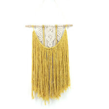 Yellow Handmade Macrame Wall Hanging- Woven Wall Art- Macrame Tapestry-Boho Wall