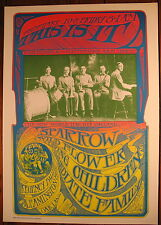 THIS IS IT SPARROW KELLEY MOUSE PSYCHEDELIC HAPPENINGS POSTER 1967 OAKLAND MINT