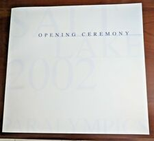Salt Lake 2002 Winter Paralympic Opening Ceremony Booklet