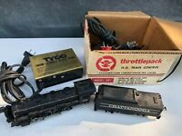 Tyco HO Chattanooga Engine Locomotive #638 & Tender For Parts plus Transformer