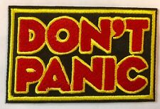 Don't panic Aufbügler / Aufnäher iron-on patch FUN KULT Film TV Keine Panik Punk