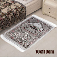 Chenille Turkish Islamic Prayer Rug CARPET Mat Namaz Salat Musallah Tapestry