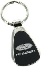 Ford Ranger Black Teardrop Keychain Car Key Chain Ring Lanyard Gift Key Fob Tag
