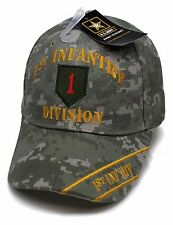 1 Adult Military US Army 1st Infantry Division Big Red One Adjustable Camo Hat