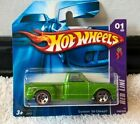 Hot Wheels Red Line Custom 69 Chevy Green  Number 01 Dated 2006 Mint on Card