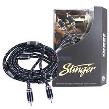 Stinger SI9212 Audio RCA Interconnect Cable 2-Channel 9000 Series 12 ft Stereo