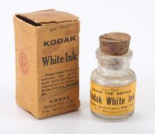 KODAK AUSTRALASIA WHITE INK, 1/2 OZ BOTTLE IN WORN/TORN BOX (READ)/cks/196093