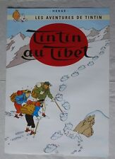 affiche poster tintin, Au tibet