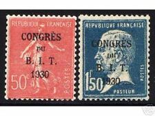"FRANCE STAMP YVERT N° 264 / 265 "" 2 TIMBRES B.I.T "" NEUFS xx LUXE ,VALEUR 55€"