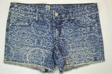 Mossimo Women's New Acid Washed Denim Blue Jean Cut-Off Shorts size 12