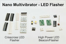 DIY Electronic Kit - 5pc Nano SMT Multivibrator LED Beacon Flasher practice SMD