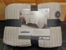 Threshold Gray Stitched Stripe Quilt King Reversible Quilt New with Tags
