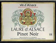 Etiquette de Vin - Alsace - Laure D'Alsace - Pinot Noir - Réf.n°318