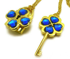 Shugo Chara! / Guardian Characters! Cos Necklace with Blue Gem Key Lock Pendant