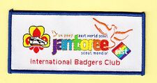 Boy Scout Badge 21 WORLD JAMBOREE 2007 Int Badgers Club blue O/L
