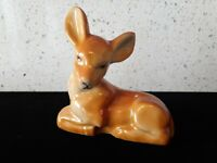 Antique Ceramic Made Japan Figurine Animal Vintage Painted Deer Fawn Doe Bambi