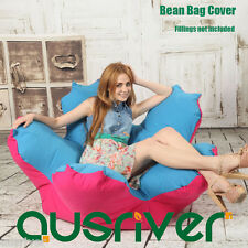 New Stylish Flower Shape Bean Bag Beanbag Cover Club Room Relaxing Sofa Chair