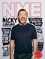 The NEW MUSICAL EXPRESS NME 12 AUGUST 2016 RICKY GERVAIS Front Cover n.m.e.