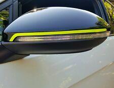 Spiegelstreifen Neon VW Volkswagen Golf 7 VII GTD GTI R Spiegelkappen Streifen
