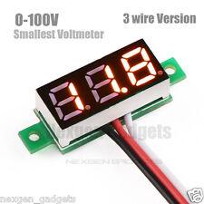 "0.28"" Digital LED smallest Precise Mini Voltmeter DC 0V - 100V Voltage Meter"