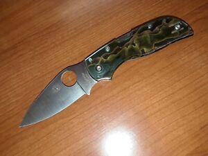 Spyderco Chaparral Raffir Noble Brass Handle CTS® XHP Steel Pocket Knife C152RNP