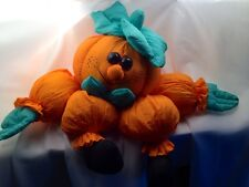 Halloween Stuffed Shelf Sitter Pumpkin Weighted Door Stop