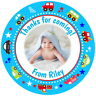 CARS CUTE GLOSS BIRTHDAY PHOTO STICKERS FOR PARTY SWEET CONE LABELS