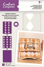 "Crafter's Companion ~ Layering Stencils ~ 3 piece ~ 5x7""  ~ Seamless Argyle"