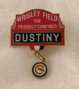 Wrigley Field The Friendly Confines Dustiny Chicago Cubs Baseball Lapel Pin