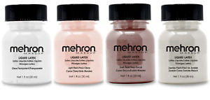Mehron Makeup Liquid Latex W/ Brush-1oz-Special Effects- Halloween,Movies- Pick.