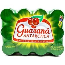 Guarana Antarctica, Guaraná Flavoured Soft Drink, 11.83 Fl. Oz (Pack of 12)