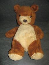 peluche doudou vintage ours marron beige 45 cm ajena