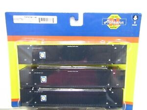 ATHEARN 17763 N SCALE FLORIDA EAST COAST 53' JINDO CONTAINER 3 PACK