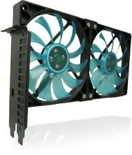 Gelid Solutions PCI Slot Fan Holder VGA Cooler, Two Slim 120mm UV Blue Fans