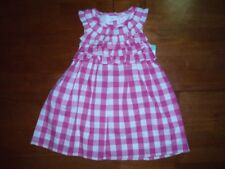 Toddler Girls Sleeveless Pink and White Gingham Dress  Size 18 Months  NWT!