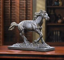WILD STALLION STATUE WESTERN AMERICANA WORLD OF PRODUCTS BRONZE COLORED