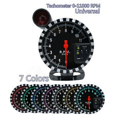 Car High Speed Stepper Tachometer Gauge 7Color LED 0-11000 RPM Meter Shift Light