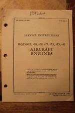 ORIGINAL 1944 AAF WRIGHT 3350 SERVICE FLIGHT MANUAL AIRCRAFT HANDBOOK-B-29,B-32
