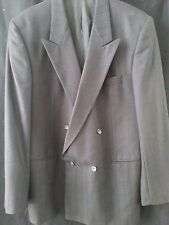 MENS CAVELLI Charcoal Gray 2 Button 100% Wool Blazer Jacket Size 44 R
