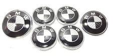 Set of 4 Wheel Caps and Front & Rear Badge BMW 1 3 5 6 7 X5 X6 E46 E39 F10 F11